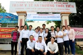 """""""Hành trình nhân ái - vì sức khỏe cộng đồng"""" đã đến với đồng bào xã Thường Thới Tiền, huyện Hồng Ngự, tỉnh Đồng Tháp."""